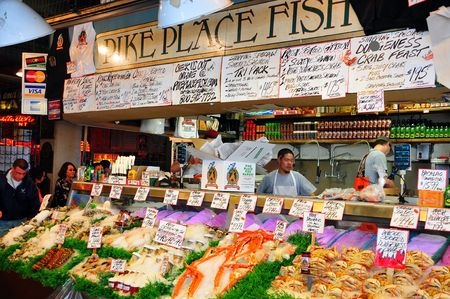 8160861 - pike place fish market in seattle, usa